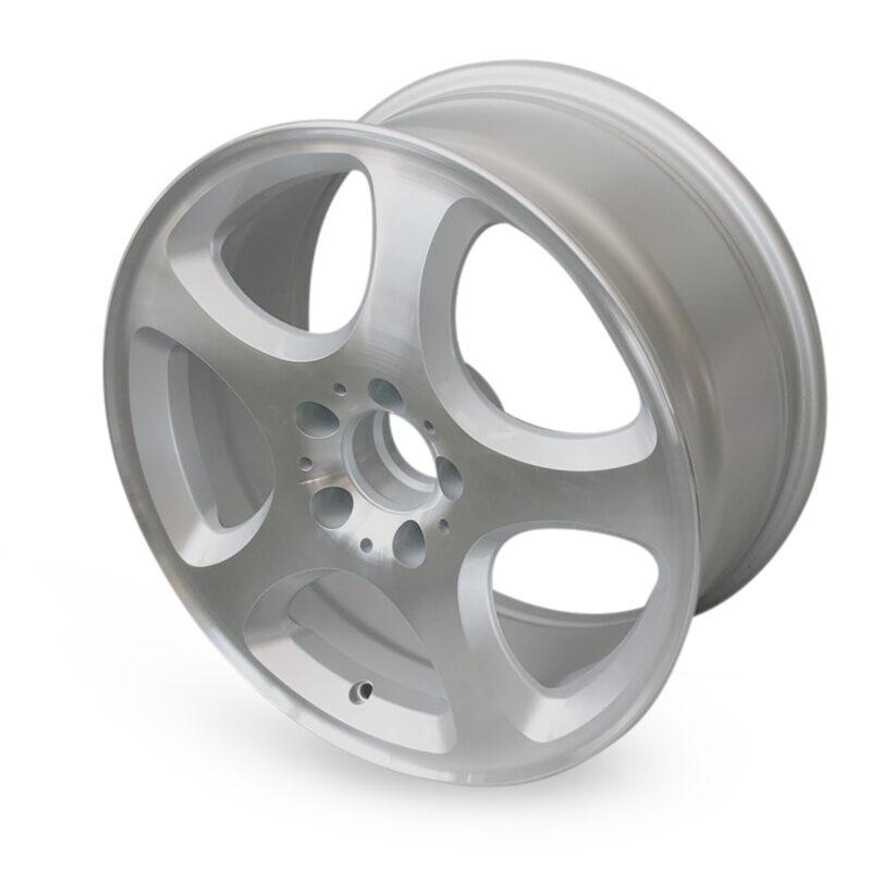 ART 000412 maxilite Alufelge Sador 825x17 ET34 silber glanzgedreht TÜV Mercedes W201 W124 R129 R170 R171 R172 W202 W203 W204 W208 W209 W210 W211 W212